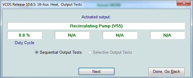 VW Webasto water pump test using VCDS – Lausdahl com