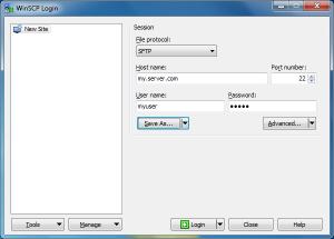 winscp-create-login