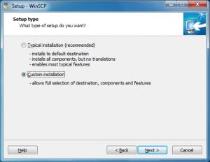 WinScp custom install