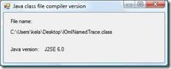 JavaClassFileCompilerVersion